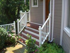 Composite porch with steps