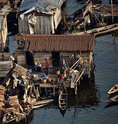 Houses on stilts, Makoko shanty town, Lagos, Nigeria