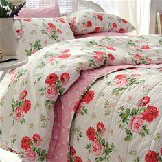 Cath Kidston Antique Rose Bouquet Single Duvet Cover & Pillow Case Set