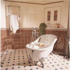 Cardigan brown on buff tile 53 x 53 x 9 mm - 6294V - Original Style