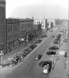 Grand Forks, ND late 1930's by the looks of the cars.  North Third Street looking North. Notice the Belmont Cafe on the left? Peggy Lee sang there.