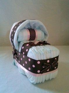 Mini Bassinet Diaper Cake Design