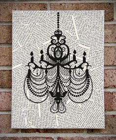 Art on Canvas: Chandelier Wall Art / Prints on by TribeAndTrade