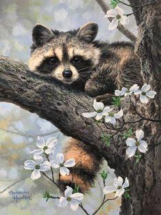 Wildlife Paintings, Wildlife Art, Animal Paintings, Animal Drawings, Animals And Pets, Baby Animals, Cute Animals, Animal Babies, Cute Creatures