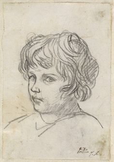 David, Jacques-Louis French, 1748 - 1825 Head of a Boy
