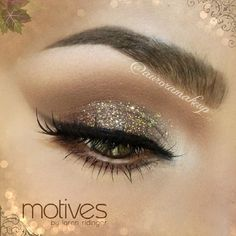 Brown glitter eyes