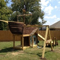 How To Build a Pirate Ship Playground - I'm an Adult and I still want one!