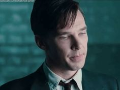 Benedict Cumberbatch as Alan Turing, The Imitation Game.