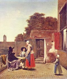 Pietere de Hoogh, A Dutch Courtyard - 1665 JAMA, Feb 24, 1989
