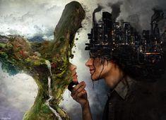 Yasak bir aşktı bizimki, Yeşile kusmuş gri döküntüler üzerinde. Ne zaman bir bahar çiçeği değse diline şehirlerin, Aşk dökerdi bulutlar...