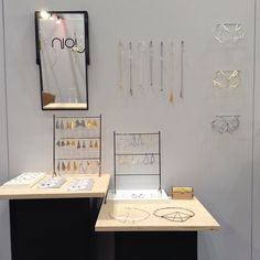 Sarah Loertscher. NYNOW booth, 2013. tradeshow / wholesale display for jewelry