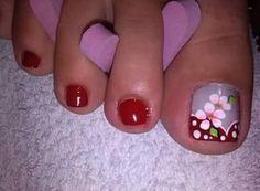 Uñas Pretty Toe Nails, Cute Toe Nails, Cute Toes, Pretty Toes, Toe Nail Art, Pedicure Nails, Mani Pedi, Manicure, Pedicure Designs