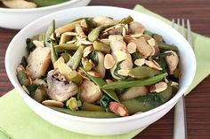Big Green Stir-Fry Recipe | Hungry Girl... I would take out the mushrooms though