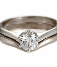 Contemporary Solitaire Wedding Ring from Ingle & Rhode