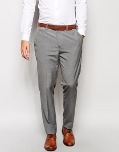 Enlarge ASOS Slim Fit Smart Trousers in Mid Grey