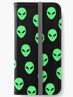 'Fluorescent green and black Aliens, UFO pattern' iPhone Wallet by cool-shirts Iphone Wallet, Iphone Cases, Rick And Morty Season, Samsung Galaxy Cases, Mobile Accessories, Mobile Cases, Tech Gadgets, Sell Your Art, Ufo
