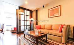 Pet-Friendly Apartment For Rent At The President Park  -   Learn more of this rental & other available condos or apartments for rent, go to http://www.homeconnectthailand.com/?pagename=search-results=75000    This pet-friendly apartment for rent at The President Park covers 55 square meters.  Available on freehold, this cozy one bedroom service apartment exudes modern elegance on its open floor plan with select furniture such as a tawny knole sofa, coffee table, and f