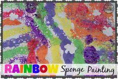 rainbow sponge paint