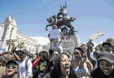 Angry students took on riot shields and stun grenades outside parliament. The protest against fee increases has spread to all universities.