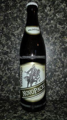 Novopacké pivo Valdštejn. Speciální světlé pivo 7%. Czech beer.