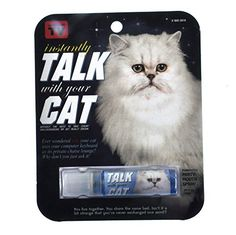 """Blue Q Gag Gift """"Instantly Talk With Your Cat"""" Breath Spray fl. ml Gag gift Pet Gifts, Cat Lover Gifts, Cat Lovers, Son Chat, Cat Pee, Cat Urine, Cool Pets, Funny Valentine, Pets"""