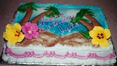 Hawaiian Birthday Cakes For A Festive Celebration Hawaiian Birthday Cakes, Adult Birthday Cakes, Themed Birthday Cakes, Pool Party Cakes, Luau Cakes, Baby Shower Cake Sayings, Celebration Cakes, Birthday Celebration, Super Foods