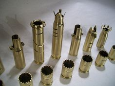 50 CALIBER BULLET SHELL chess pieces by OldeWorldCC on Etsy