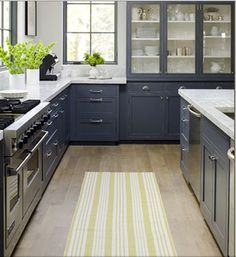 1000 images about cuisine on pinterest kitchens tile - Cuisine blanche sol gris ...