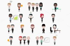 Cute business people by Beatriz Gascón on Creative Market