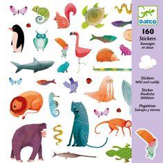 160 stickers wild en lief | djeco