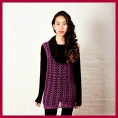 Patrones y tutoriales de vestidos, chaquetas y tops a crochet, con patrones gratuitos.