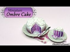 Miniature Ombre Cake - Polymer Clay Tutorial - YouTube