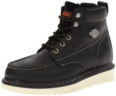 737435c1f HarleyDavidson Mens Beau Wedge Motorcycle Boot Black 85 M US   Want  additional info  Click on the image.