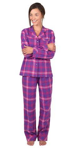 4332ae5503 Raspberry Plaid Flannel Pajamas from PajamaGram.  59.99  Plaid  Pajamas  Cute Pjs