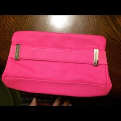 New Victoria Secret bag Super cute, hot pink Victoria Secret bag.. I received it as a gift with lotions & spray inside.. I used the items, but never the bag, so it's in new condition .. Could be lil purse or makeup bag.. Very versatile !! Victoria's Secret Bags Cosmetic Bags & Cases