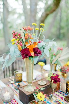 Fall Bohemian wedding inspiration | photo by Andi Mans Photography | 100 Layer Cake