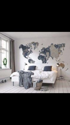 You will get a lot of ideas to decor your bedroom wall because there are many things that you can use for it. Besides the wall paint, you may try to decor the bedroom wall with wallpaper, frames, wall