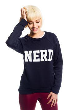 Peyton NERD Sweatshirt in Navy  £9.99