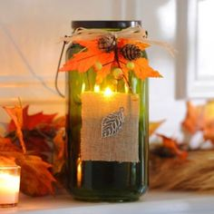 Bountiful Harvest Green Tealight Candle Holder at Kirklands #kirklands #kirklandsharvest
