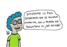 """- Julian Garcia (@ola.dibujos) en Instagram: """"Preguntemos otras cosas #aburrido #pregunta #buenosaires #argentina #ilustracion #humorgrafico"""""""