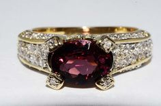 2.75CT NATURAL PINK TOURMALINE & DIAMOND RING