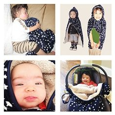#1 Baby Carrier Cover ADJUSTABLE with Hoodie, DOUBLE winter FLEECE attaches quickly and easily to baby carriers. Multi-Use 5-in-1 stroller cover, nursing cover, poncho & blankie! Kurumi Ket: Winner of Mom's Choice Award 2014, great for boys & girls