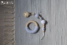 Baby Pacifier Clip & Teething Ring Set // Set Schnullerkette & Greifring