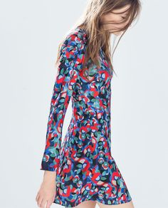 Image 3 of RETRO PRINTED DRESS from Zara