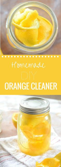 This easy homemade orange cleaner will have you craving cleaning your home! Smells so fresh & clean!