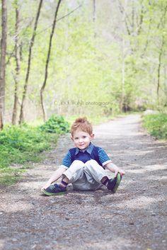 little boy, blue vest, Schenley Park