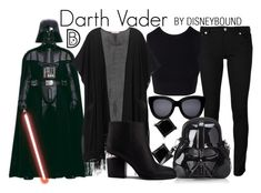 """""""Darth Vader"""" by leslieakay ❤ liked on Polyvore featuring WALL, Givenchy, Victoria's Secret, Alexander Wang, disney, disneybound and disneycharacter"""