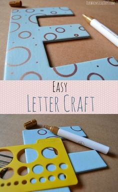 Quick and easy chipboard letter design would look great hanging on the wall!
