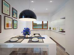 Aranżacja kuchni doskonale doświetla to pomieszczenie.Kuchnia mimo niewielkich rozmiarów posiada wszystko czego potrzeba w codziennym życiu.