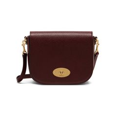 Mulberry - Small Darley Satchel in Oxblood Natural Grain Leather Someday 😍😍 Small Crossbody Bag, Leather Crossbody, Mulberry Satchel, Mulberry Shoulder Bag, Brown Leather Messenger Bag, Oxblood, Retro, Saddle Bags, Bags